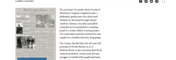 1992: Public School 15 Principal Patrick Daly is shot and killed [VIDEO]